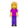 Woman Standing on Emojipedia 12.0