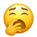 Yawning Face on Emojipedia 12.0