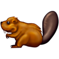 Beaver on Emojipedia 13.0
