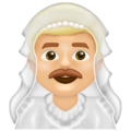 Man with Veil: Medium-Light Skin Tone on Emojipedia 13.0