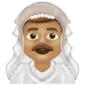 Man with Veil: Medium Skin Tone on Emojipedia 13.0