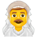 Man with Veil on Emojipedia 13.0