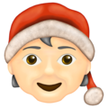 Mx Claus: Light Skin Tone on Emojipedia 13.0