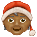 Mx Claus: Medium-Dark Skin Tone on Emojipedia 13.0