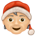 Mx Claus: Medium-Light Skin Tone on Emojipedia 13.0