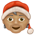 Mx Claus: Medium Skin Tone on Emojipedia 13.0