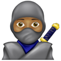 Ninja: Medium-Dark Skin Tone on Emojipedia 13.0