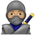 Ninja: Medium Skin Tone on Emojipedia 13.0
