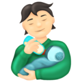 Person Feeding Baby: Light Skin Tone on Emojipedia 13.0