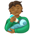 Person Feeding Baby: Medium-Dark Skin Tone on Emojipedia 13.0