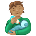 Person Feeding Baby: Medium Skin Tone on Emojipedia 13.0