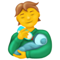 Person Feeding Baby on Emojipedia 13.0