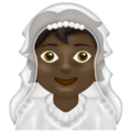 Person With Veil: Dark Skin Tone on Emojipedia 13.0