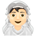 Person With Veil: Light Skin Tone on Emojipedia 13.0