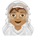 Person With Veil: Medium Skin Tone on Emojipedia 13.0