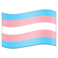 Transgender Flag on Emojipedia 13.0