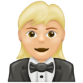 Woman in Tuxedo: Medium-Light Skin Tone on Emojipedia 13.0
