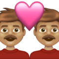 Couple with Heart: Man, Man, Medium Skin Tone on Emojipedia 13.1