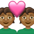 Couple With Heart: Medium-Dark Skin Tone on Emojipedia 13.1