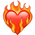 Heart on Fire on Emojipedia 13.1