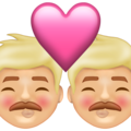 Kiss: Man, Man, Medium-Light Skin Tone on Emojipedia 13.1