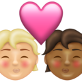 Kiss: Person, Person, Medium-Light Skin Tone, Medium-Dark Skin Tone on Emojipedia 13.1