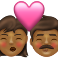 Kiss: Woman, Man, Medium-Dark Skin Tone on Emojipedia 13.1