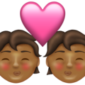 Kiss: Medium-Dark Skin Tone on Emojipedia 13.1