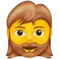 Woman: Beard on Emojipedia 13.1