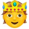 Person with Crown on Emojipedia 14.0