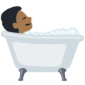 Person Taking Bath: Medium-Dark Skin Tone on Facebook 2.2.1