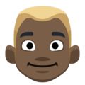Blond-Haired Man: Dark Skin Tone on Facebook 2.2.1