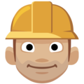 Construction Worker: Medium-Light Skin Tone on Facebook 2.2.1