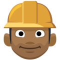 Construction Worker: Medium-Dark Skin Tone on Facebook 2.2.1