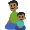 Family - Man: Medium-Dark Skin Tone, Boy: Medium-Dark Skin Tone on Facebook 2.2.1