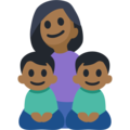 Family - Woman: Medium-Dark Skin Tone, Boy: Medium-Dark Skin Tone, Boy: Medium-Dark Skin Tone on Facebook 2.2.1
