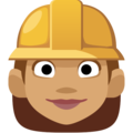 Woman Construction Worker: Medium Skin Tone on Facebook 2.2.1