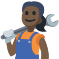 Woman Mechanic: Dark Skin Tone on Facebook 2.2.1