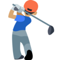 Person Golfing: Medium Skin Tone on Facebook 2.2.1