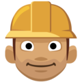 Man Construction Worker: Medium Skin Tone on Facebook 2.2.1