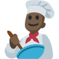 Man Cook: Dark Skin Tone on Facebook 2.2.1
