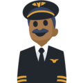 Man Pilot: Medium-Dark Skin Tone on Facebook 2.2.1
