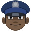 Man Police Officer: Dark Skin Tone on Facebook 2.2.1