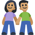Woman and Man Holding Hands: Medium Skin Tone on Facebook 2.2.1