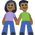 Woman and Man Holding Hands: Medium-Dark Skin Tone on Facebook 2.2.1