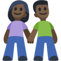Man and Woman Holding Hands, Type-6 on Facebook 2.2.1