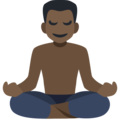 Man in Lotus Position: Dark Skin Tone on Facebook 2.2.1