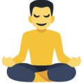 Man in Lotus Position on Facebook 2.2.1