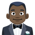 Man in Tuxedo: Dark Skin Tone on Facebook 2.2.1