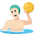 Man Playing Water Polo: Light Skin Tone on Facebook 2.2.1